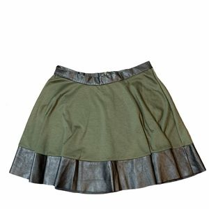 Ardene Military Green Faux Leather Skirt Large